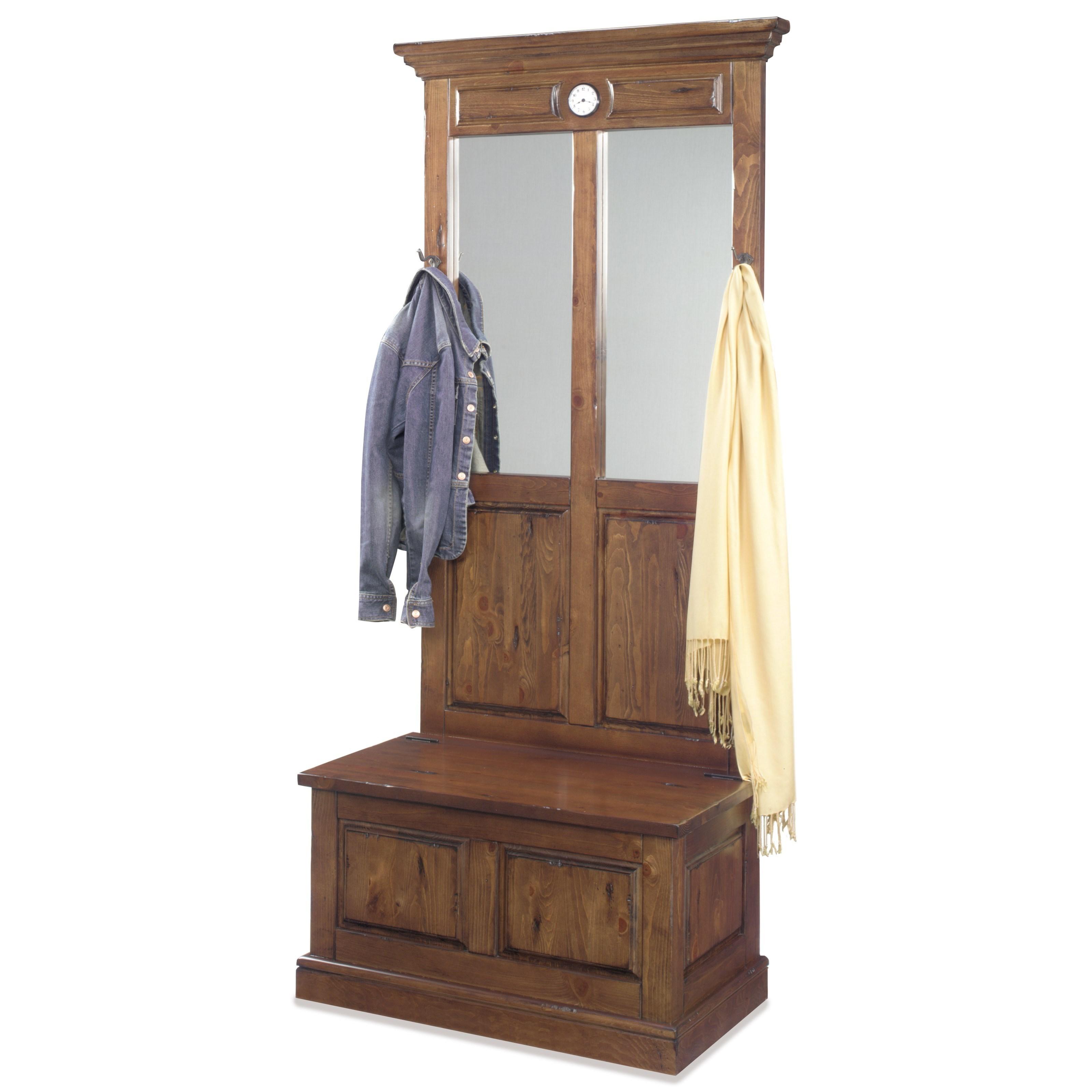 Progressive Furniture Carrington Clock Hall Tree - Item Number: A418-19B+19T