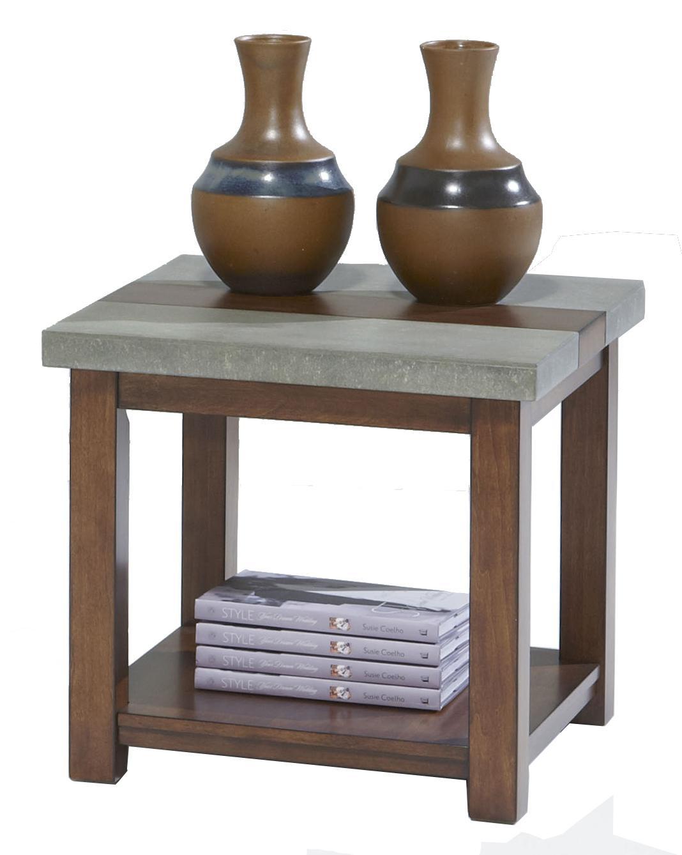 Progressive Furniture Cascade Square Lamp Table - Item Number: P426-02