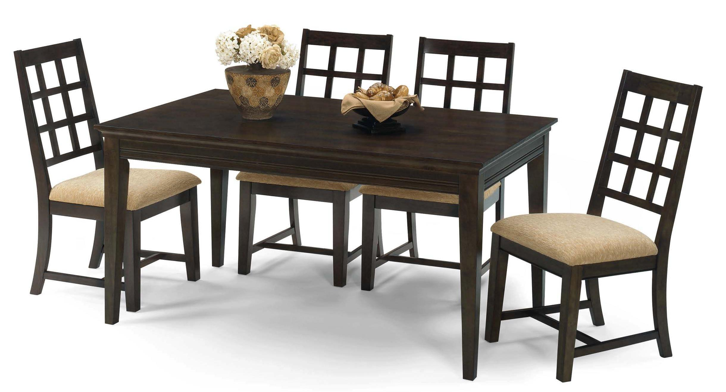 Progressive Furniture Casual Traditions 5 Piece Rectangular Dining Set - Item Number: P107-10+4x61