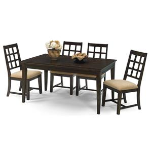 Progressive Furniture Casual Traditions 5 Piece Rectangular Dining Set