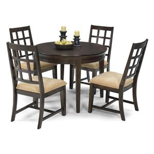 Progressive Furniture Casual Traditions 5 Piece Round Dining Table Set