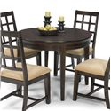 Progressive Furniture Casual Traditions Casual 5 Piece Round Dining Table Set - P107-13+4x61