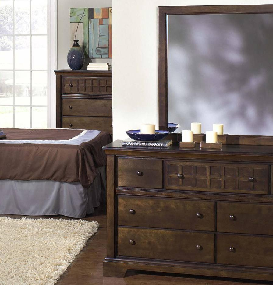 Progressive Furniture Casual Traditions Casual Dresser and Mirror - Item Number: P107-23+50