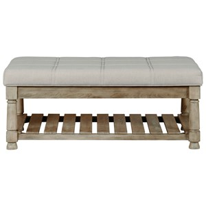 Rectangular Upholstered Cocktail Table