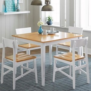 Progressive Furniture Christy 5 Piece Chair & Table Set
