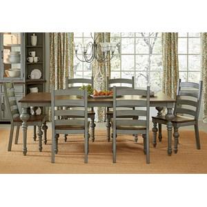 Progressive Furniture Colonnades  7 Piece Dining Set
