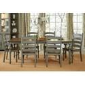 Progressive Furniture Colonnades  7 Piece Dining Set - Item Number: D880-10+6x62