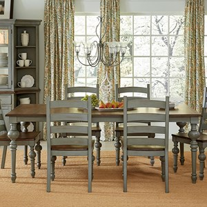 Progressive Furniture Colonnades  Rectangular Dining Table