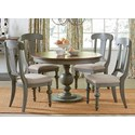 Progressive Furniture Colonnades  5 Piece Dining Set - Item Number: D880-15B+T+4x61