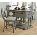 Progressive Furniture Colonnades  5 Piece Dining Set - Item Number: D880-45+4x63