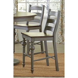 Progressive Furniture Colonnades  Ladder Counter Chair