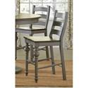 Progressive Furniture Colonnades  Ladder Counter Chair - Item Number: D880-64