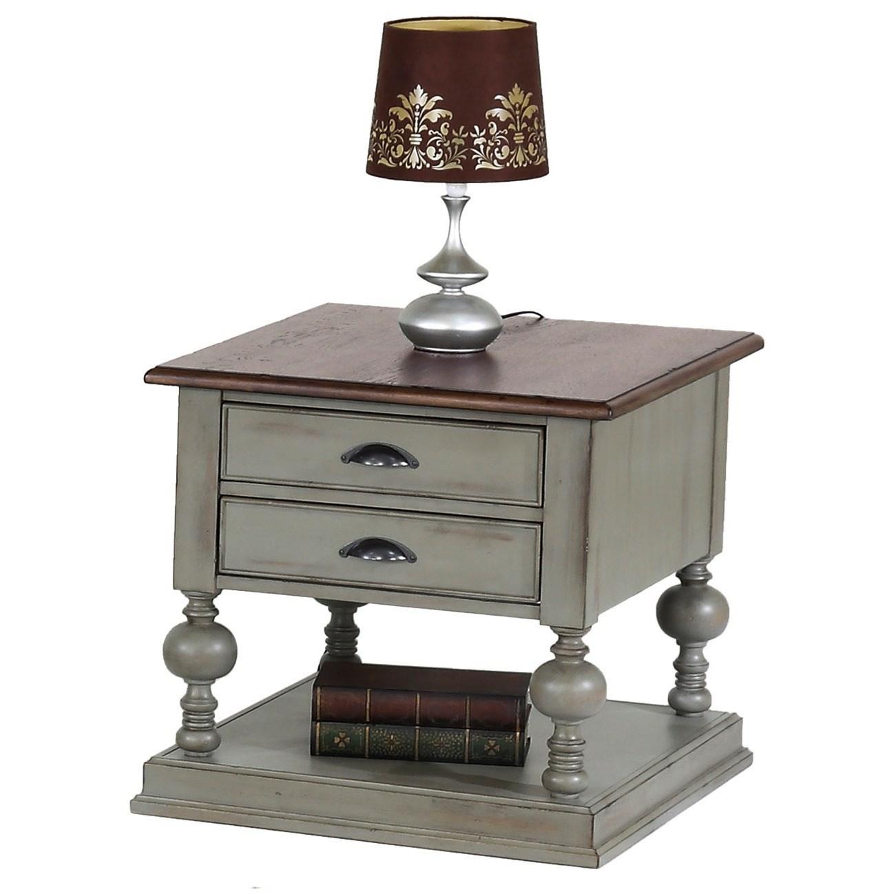 Progressive Furniture Colonnades Rectangular End Table - Item Number: T580-04