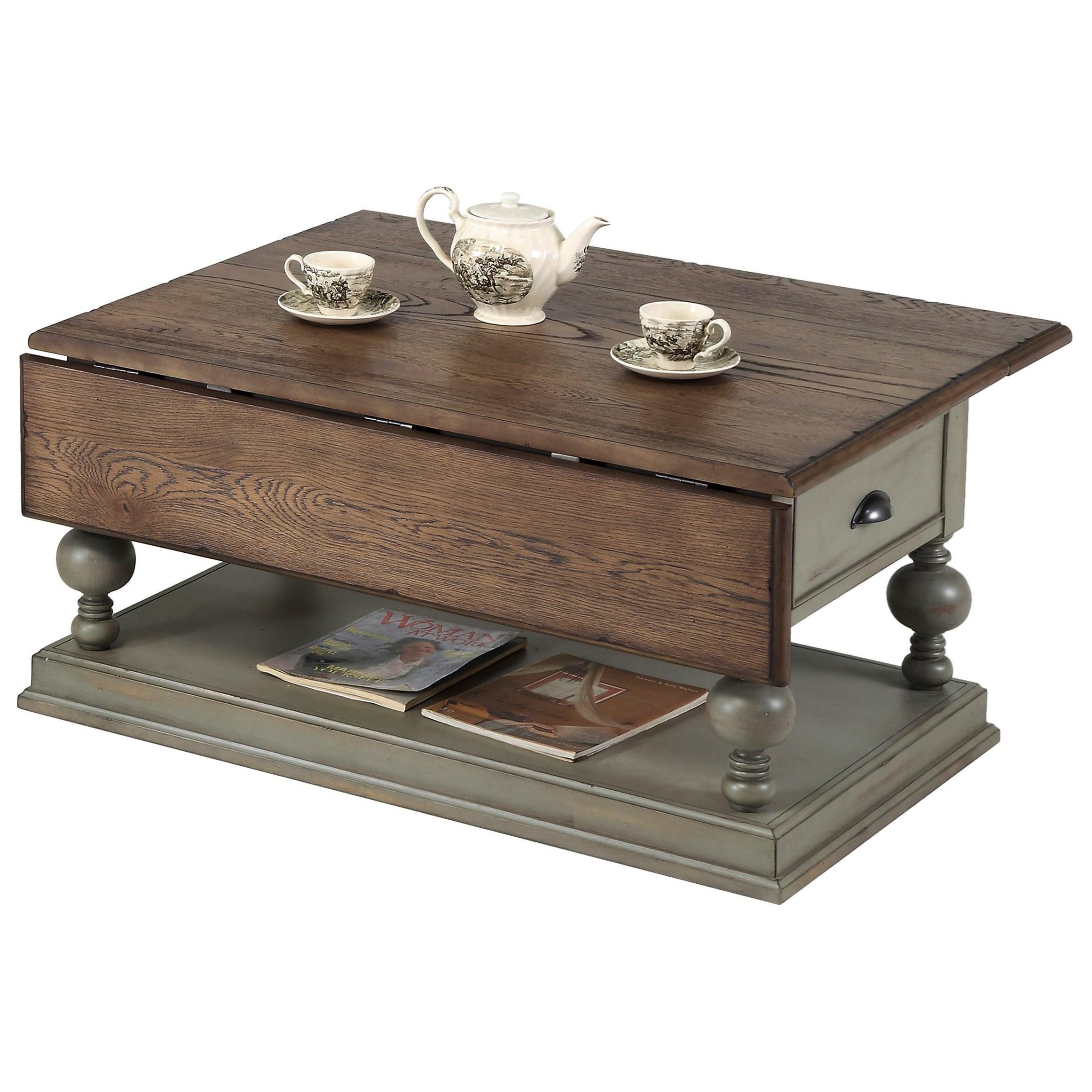 Progressive Furniture Colonnades Drop-Leaf Cocktail Table - Item Number: T580-16