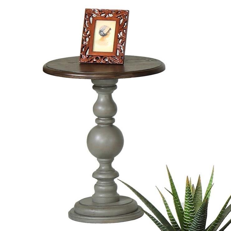 Progressive Furniture Colonnades Pedestal Chairside Table - Item Number: T580-29