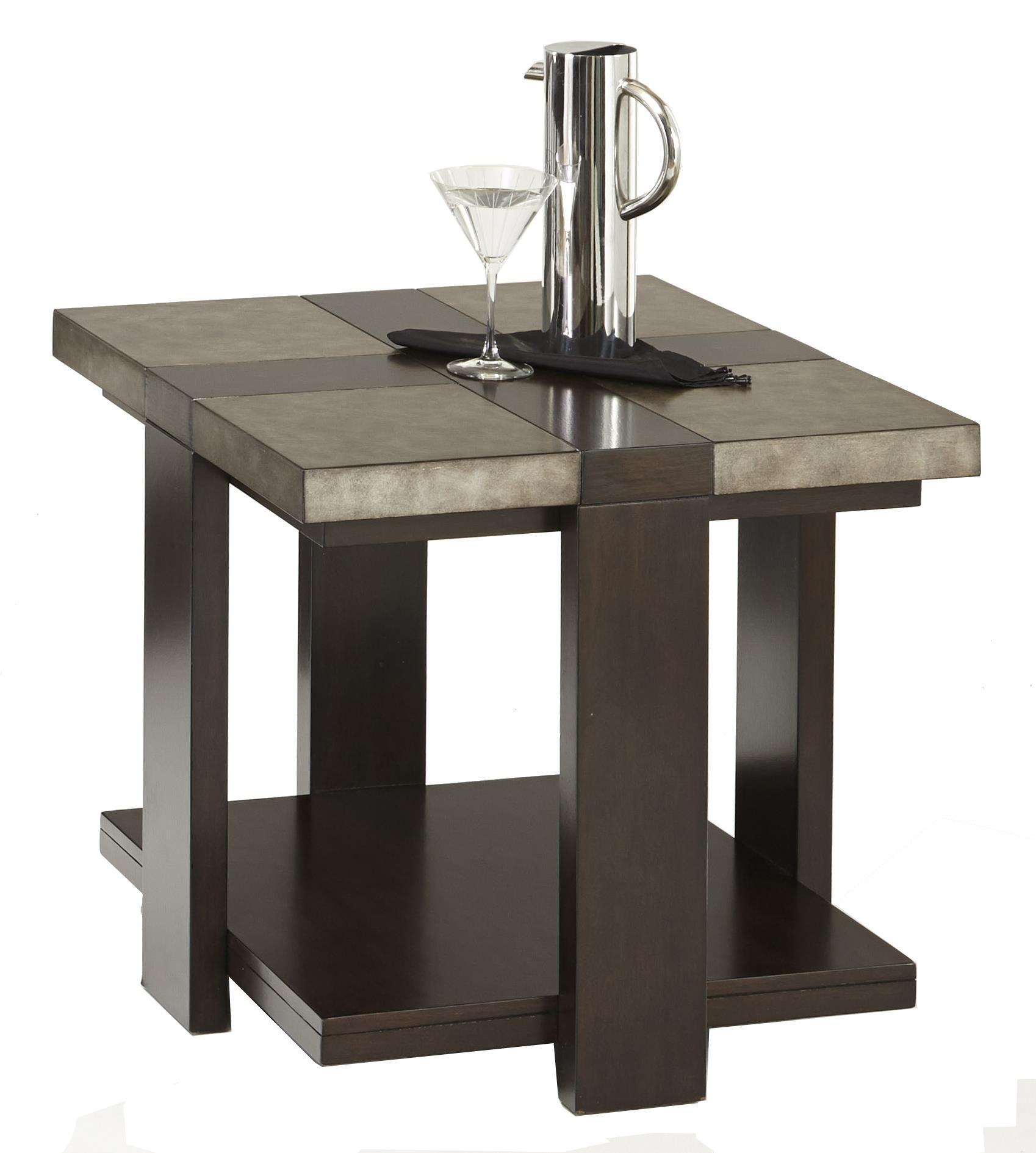 Progressive Furniture Concourse Rectangular End Table - Item Number: P488-04