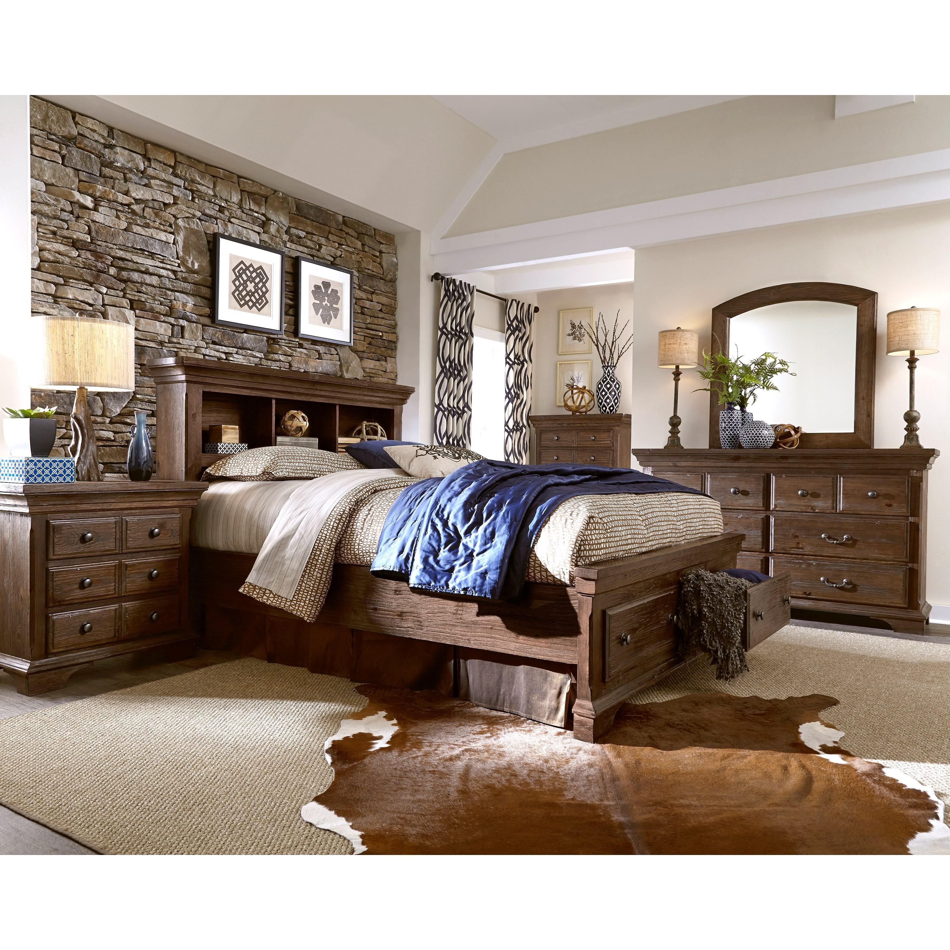 Progressive Furniture Copenhagen Queen Bedroom Group - Item Number: B621 Q Bedroom Group 4