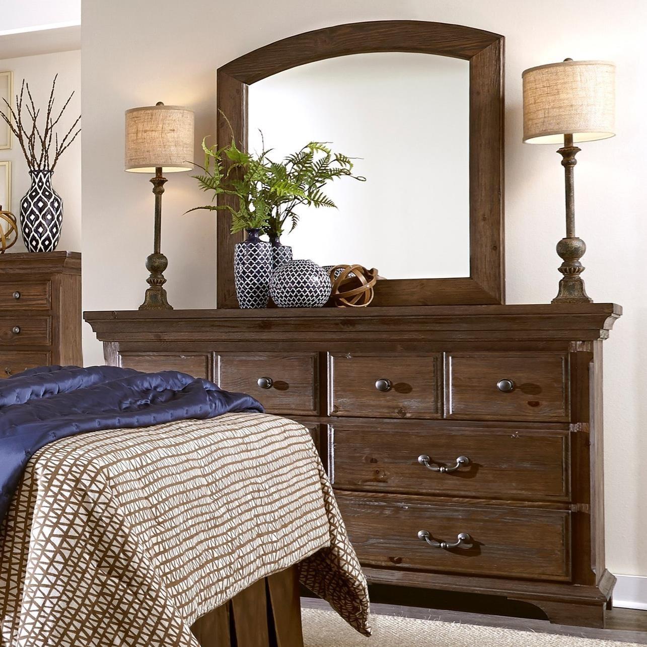 Progressive Furniture Copenhagen Dresser & Mirror - Item Number: B621-23+50