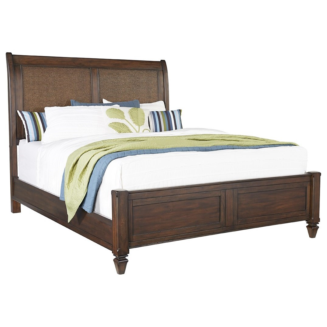Progressive Furniture Coronado California King Panel Bed With Rattan Accented Headboard Lindy S Furniture Company Platform Beds Low Profile Beds