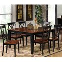 Progressive Furniture Cosmo Casual Dining Table Set - Item Number: P809-10T+10B+6x61