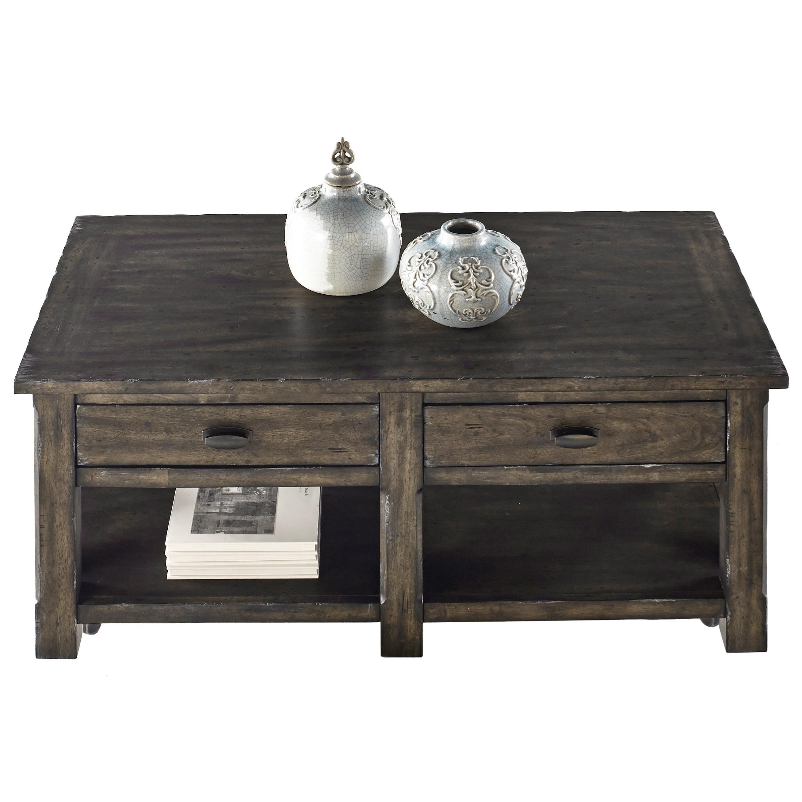 Progressive Furniture Crossroads Rectangular Cocktail Table - Item Number: T550-01