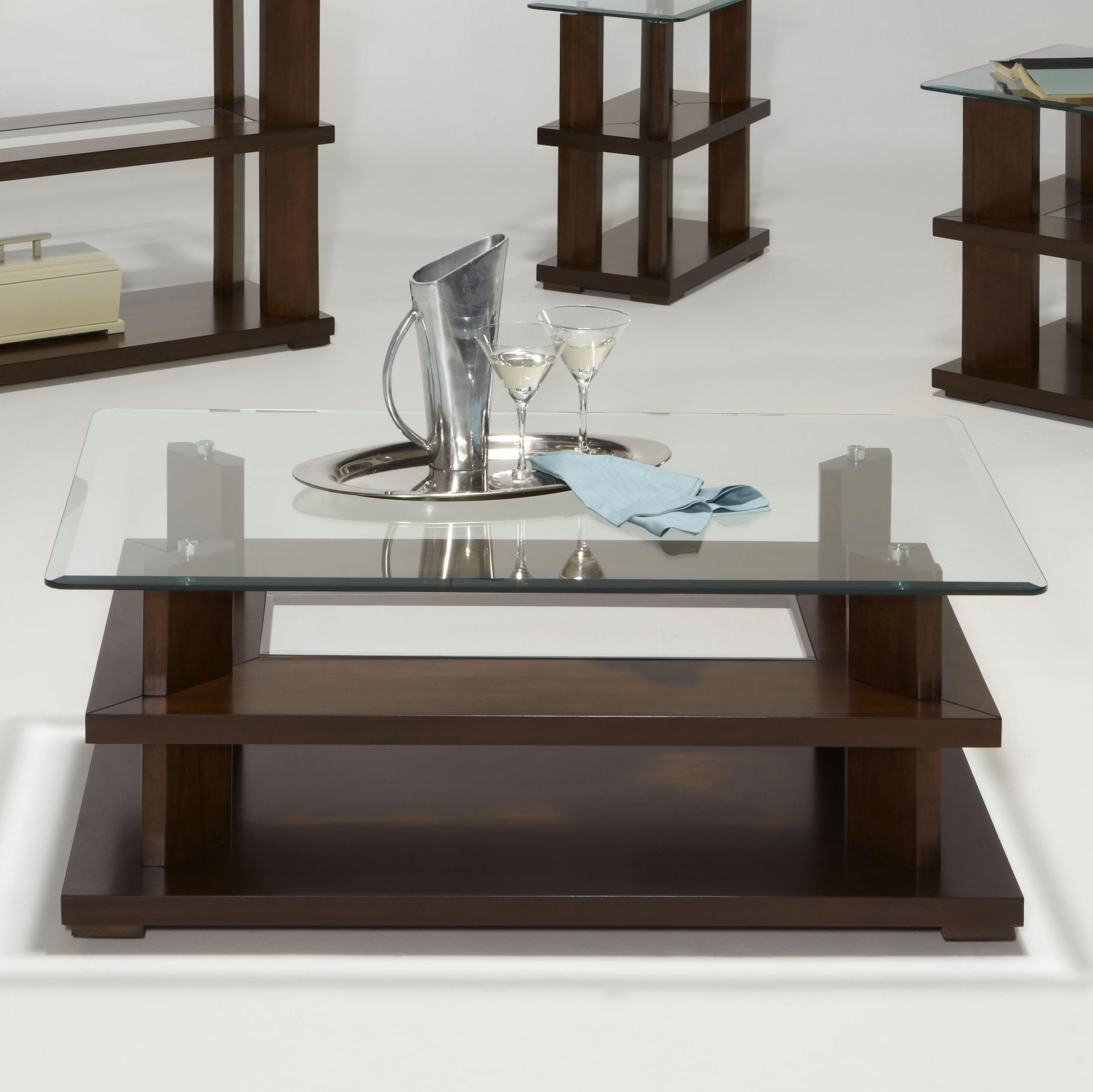 Progressive Furniture Delfino Rectangular Cocktail Table - Item Number: P404-01