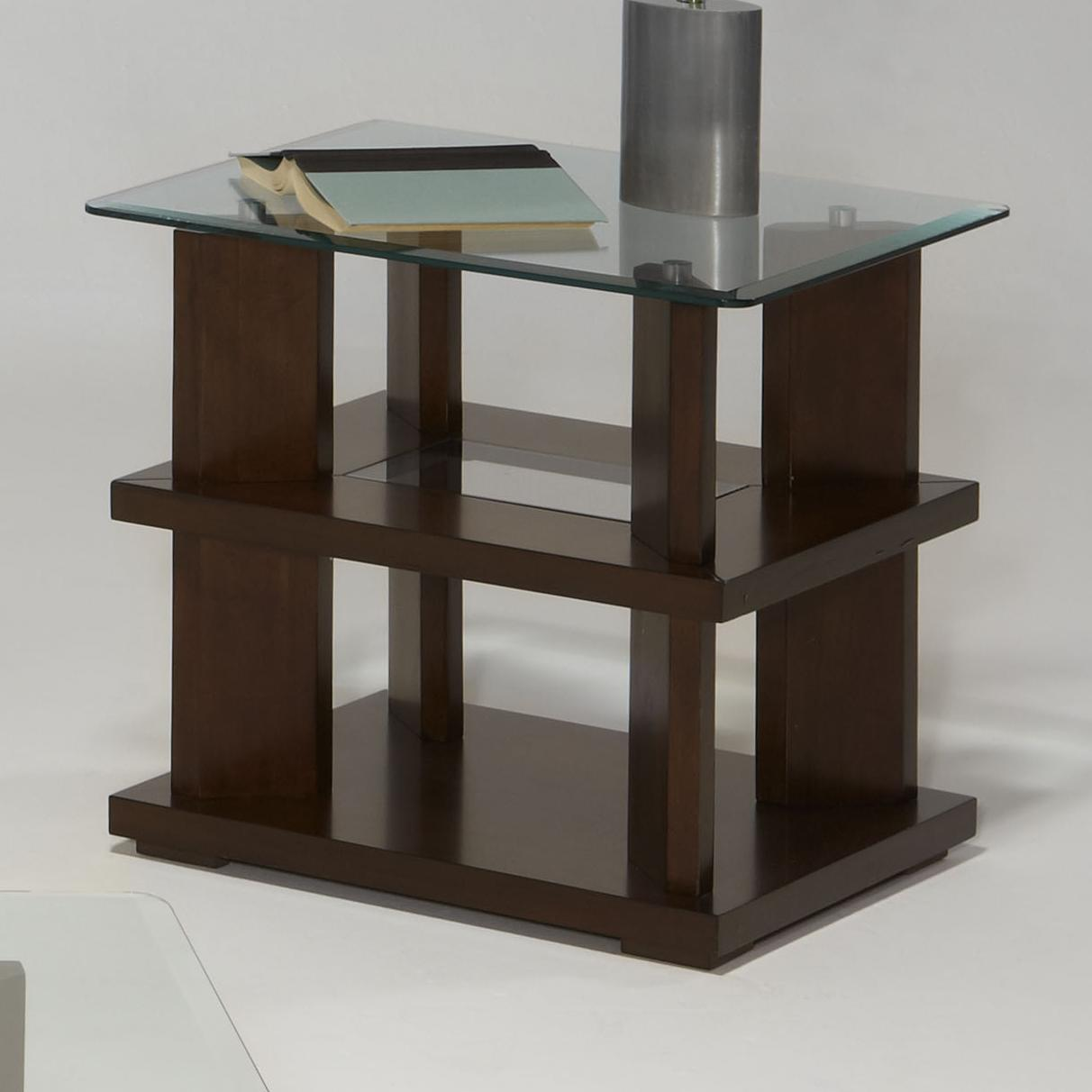 Progressive Furniture Delfino Rectangular End Table - Item Number: P404-04