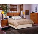 Progressive Furniture Diego Five Drawer Chest - Shown with Nightstand and Panel Headboard Bed