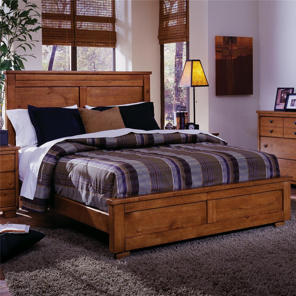 Progressive Furniture Diego Queen Panel Bed - Item Number: 61652-34+36+77