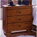 Progressive Furniture Diego Three Drawer Nightstand  - 61652-43