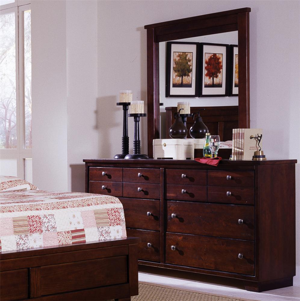 Progressive Furniture Diego Dresser & Mirror - Item Number: 61662-23+50