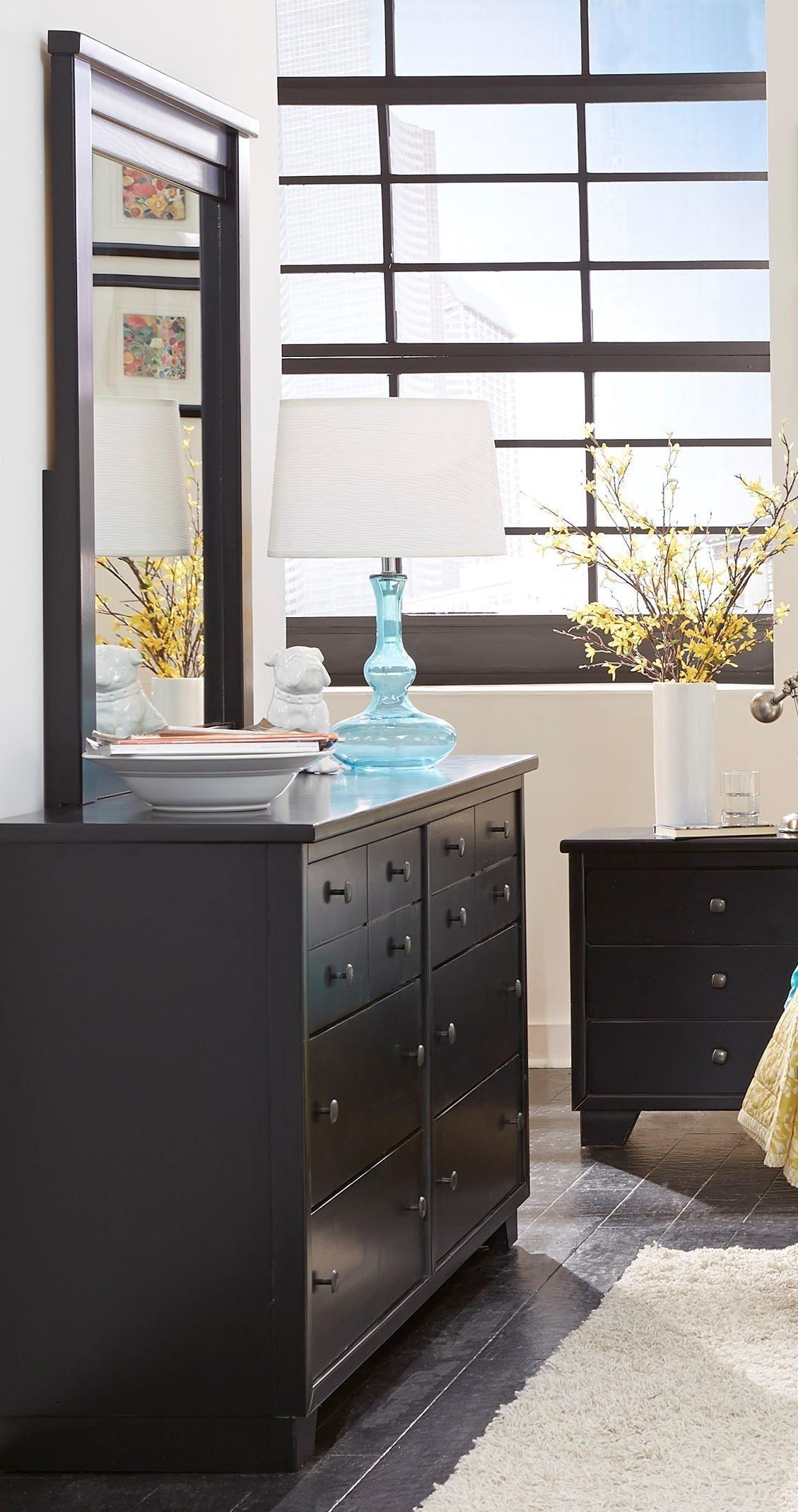 Progressive Furniture Diego Dresser & Mirror - Item Number: P619-23+50
