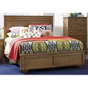 Progressive Furniture Diego Casual Full Panel Bed - Image Shown May Not Represent Bed Size Indicated