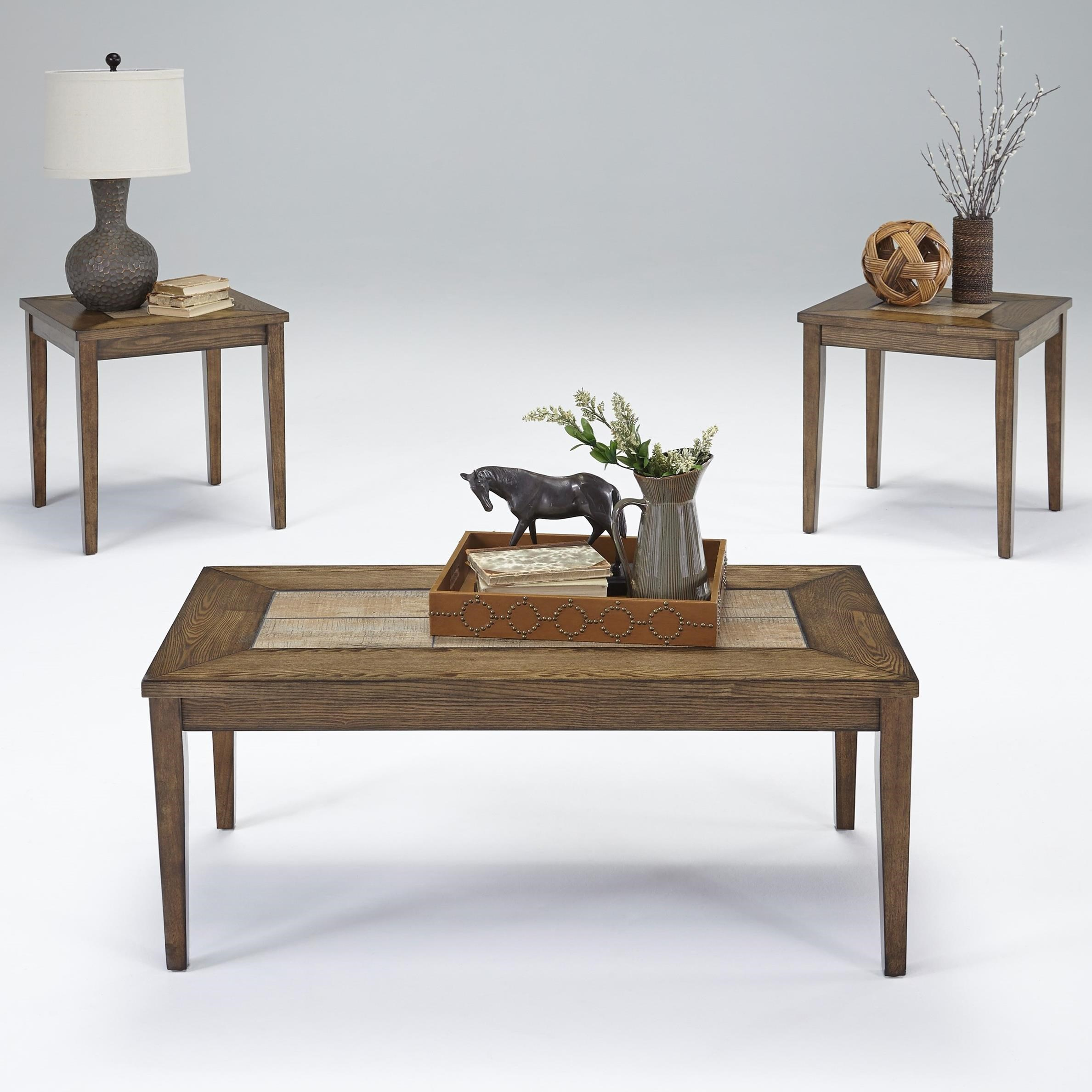 Progressive Furniture Forest Brook 3 Piece Accent Table Set   Item Number:  T278