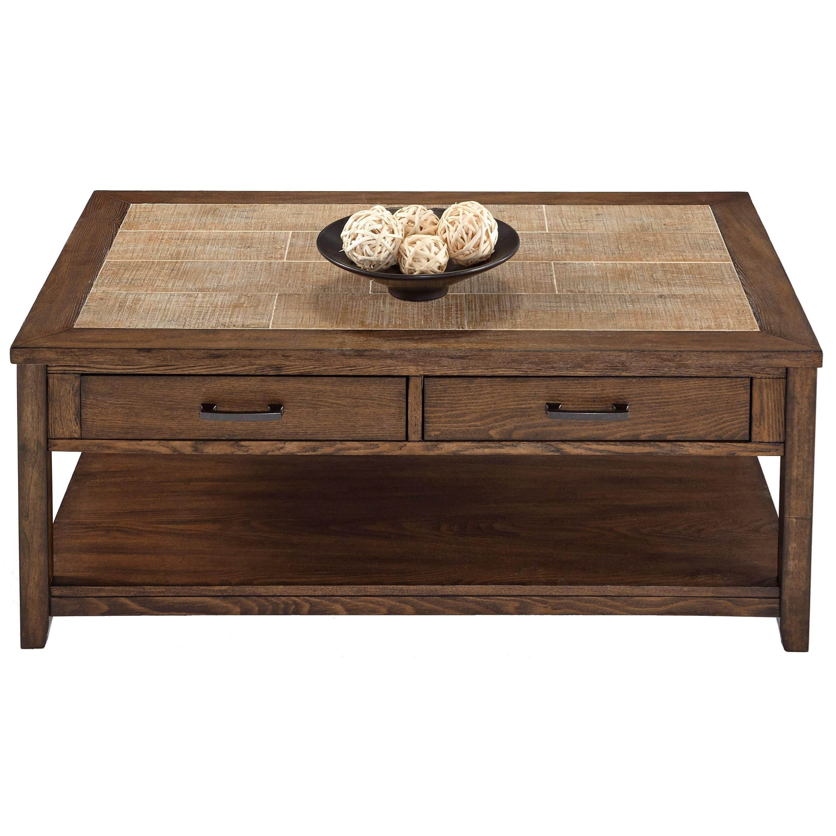 Progressive Furniture Forest Brook Castered Rectangular Cocktail Table - Item Number: P378T-01