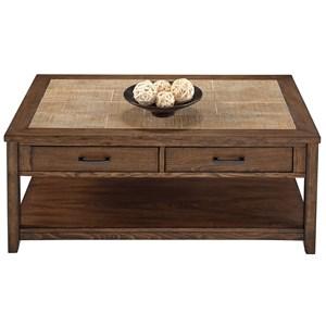 Progressive Furniture Forest Brook Castered Rectangular Cocktail Table