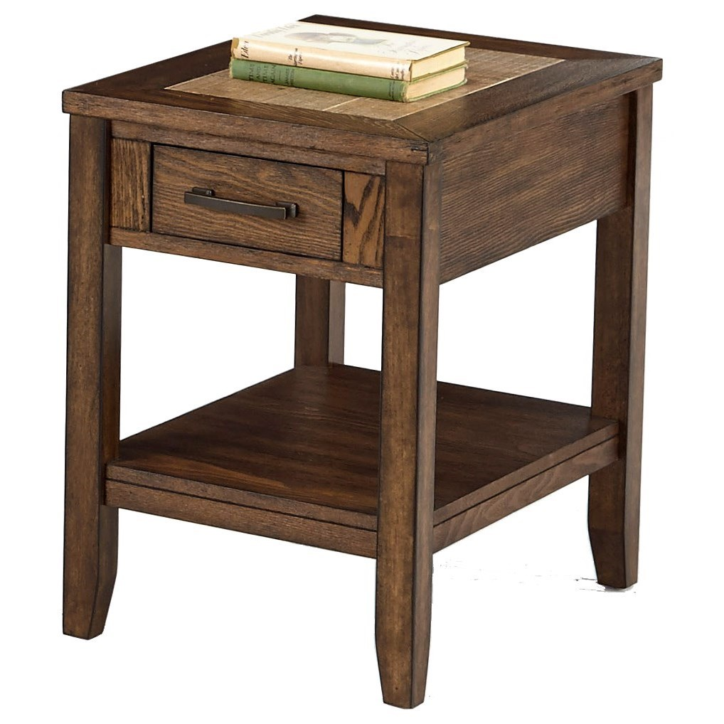 Progressive Furniture Forest Brook Chairside Table - Item Number: P378T-29