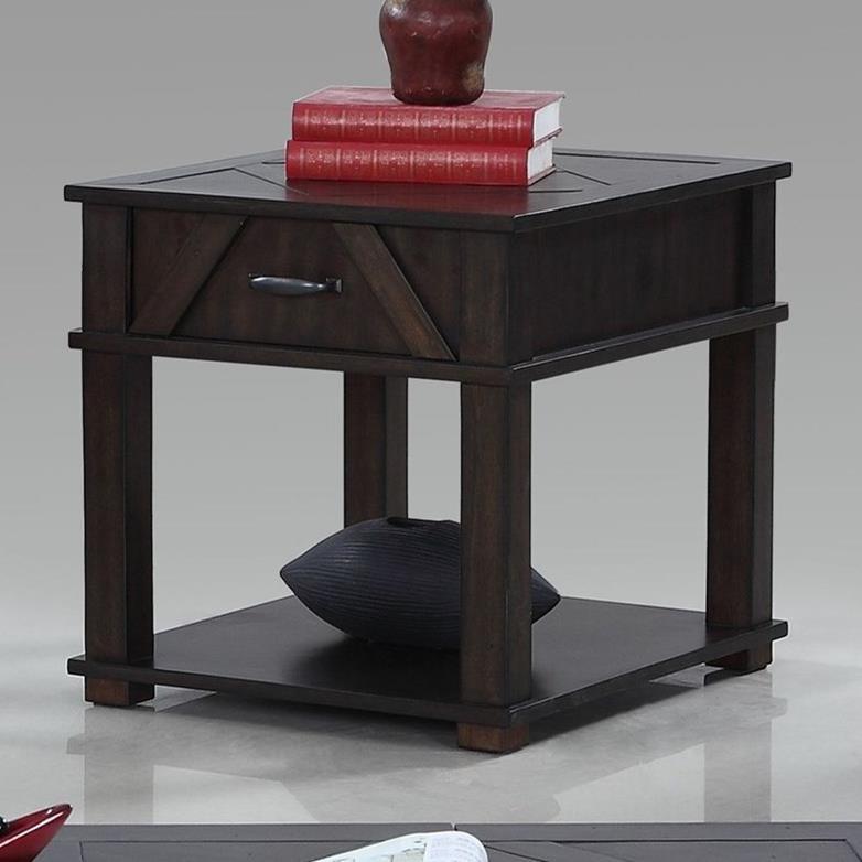 Progressive Furniture Foxcroft Rectangular End Table - Item Number: T437-04