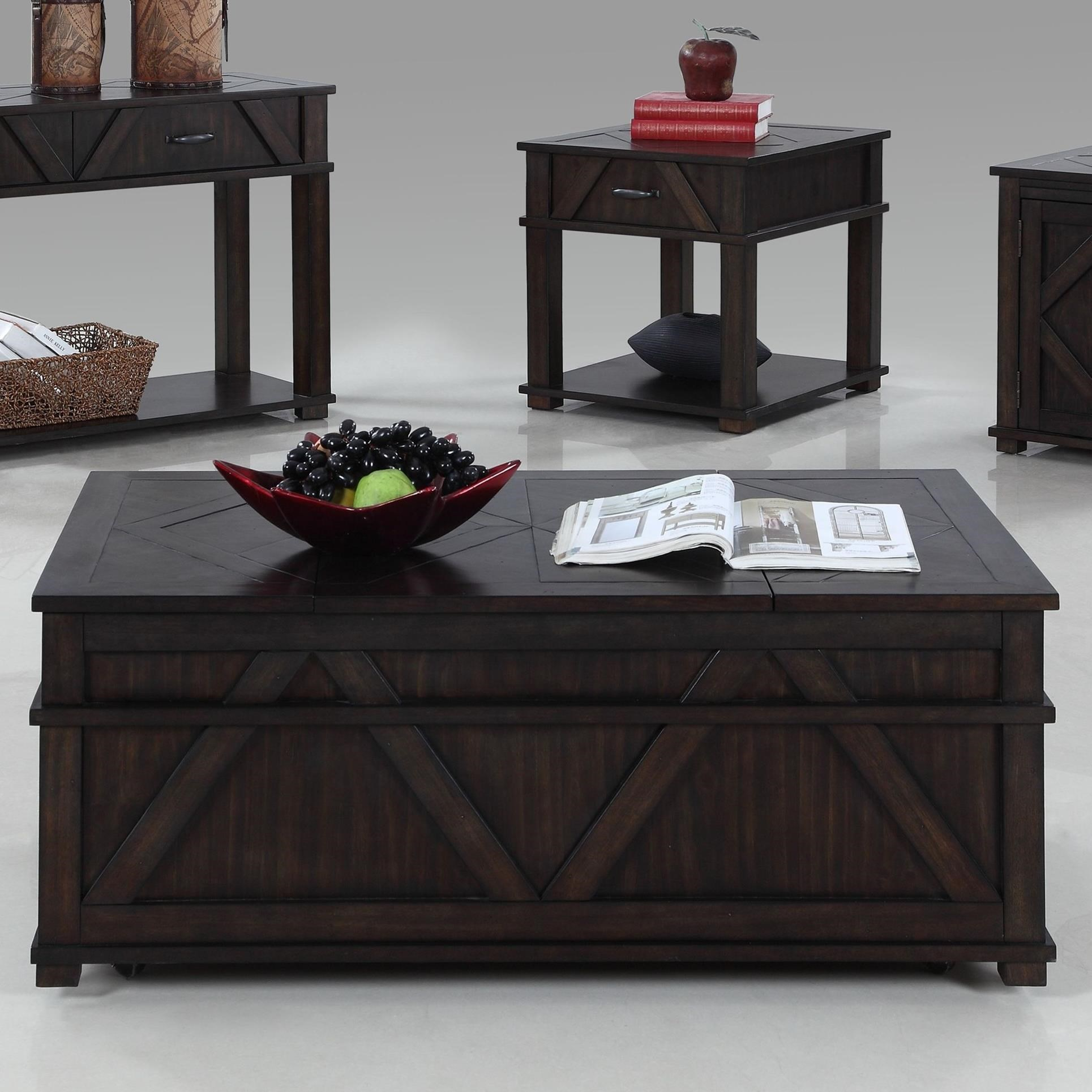 Progressive Furniture Foxcroft Castered Storage Chest Cocktail Table - Item Number: T437-17