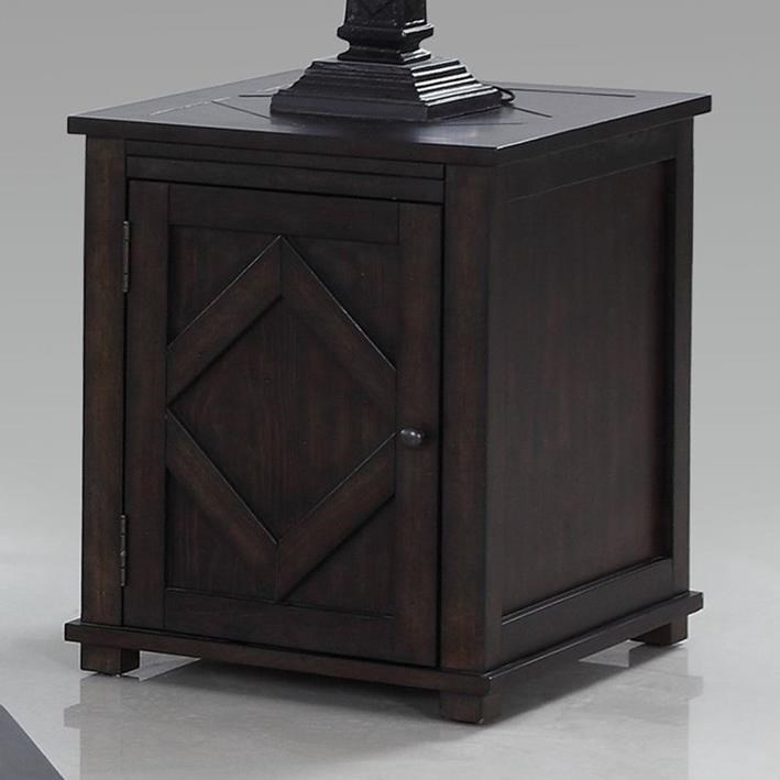 Progressive Furniture Foxcroft Chairside Cabinet Table - Item Number: T437-29