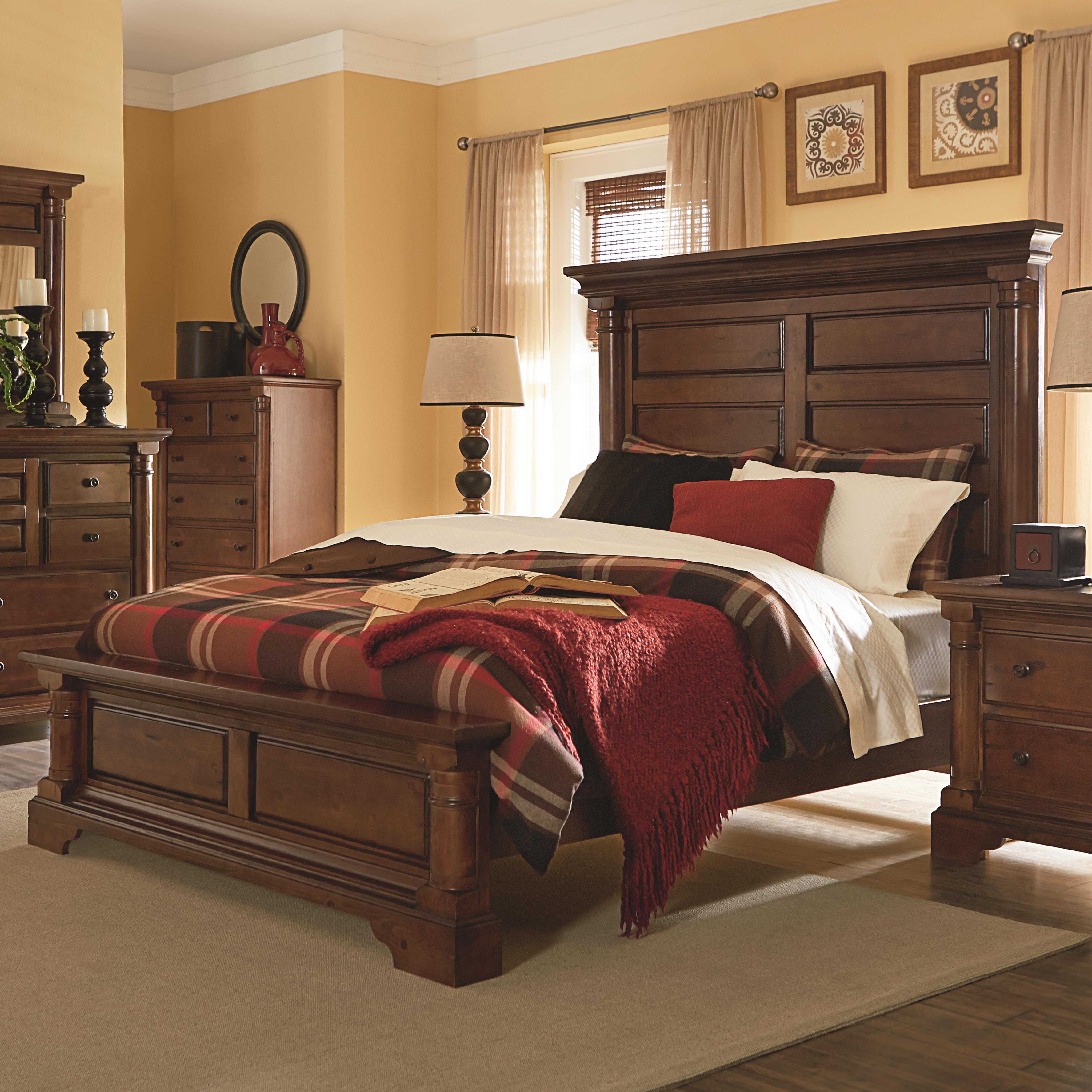 Progressive Furniture Gramercy Park King Panel Bed - Item Number: P660-94+97+78