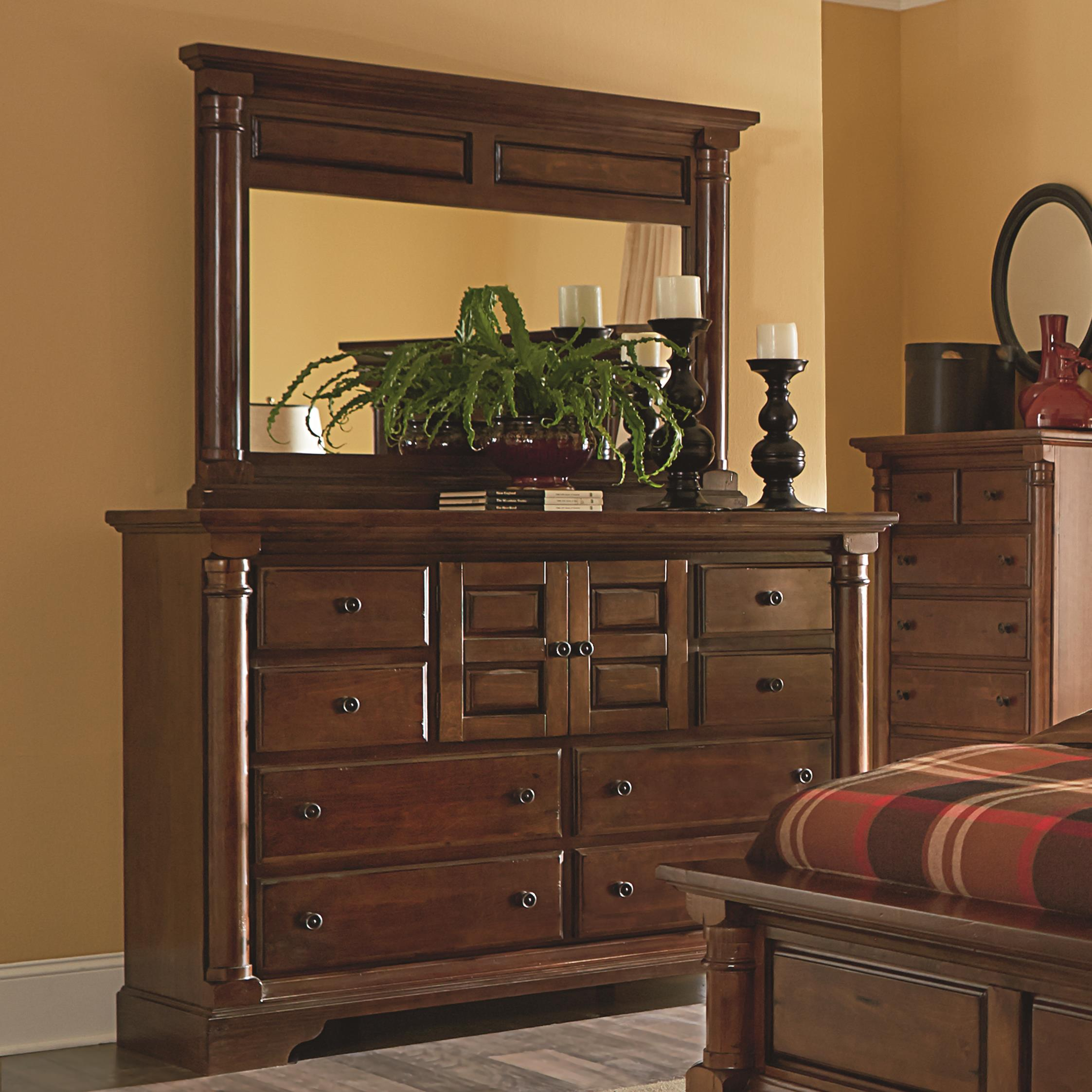 Progressive Furniture Gramercy Park Dresser and Mirror - Item Number: P660-50+24