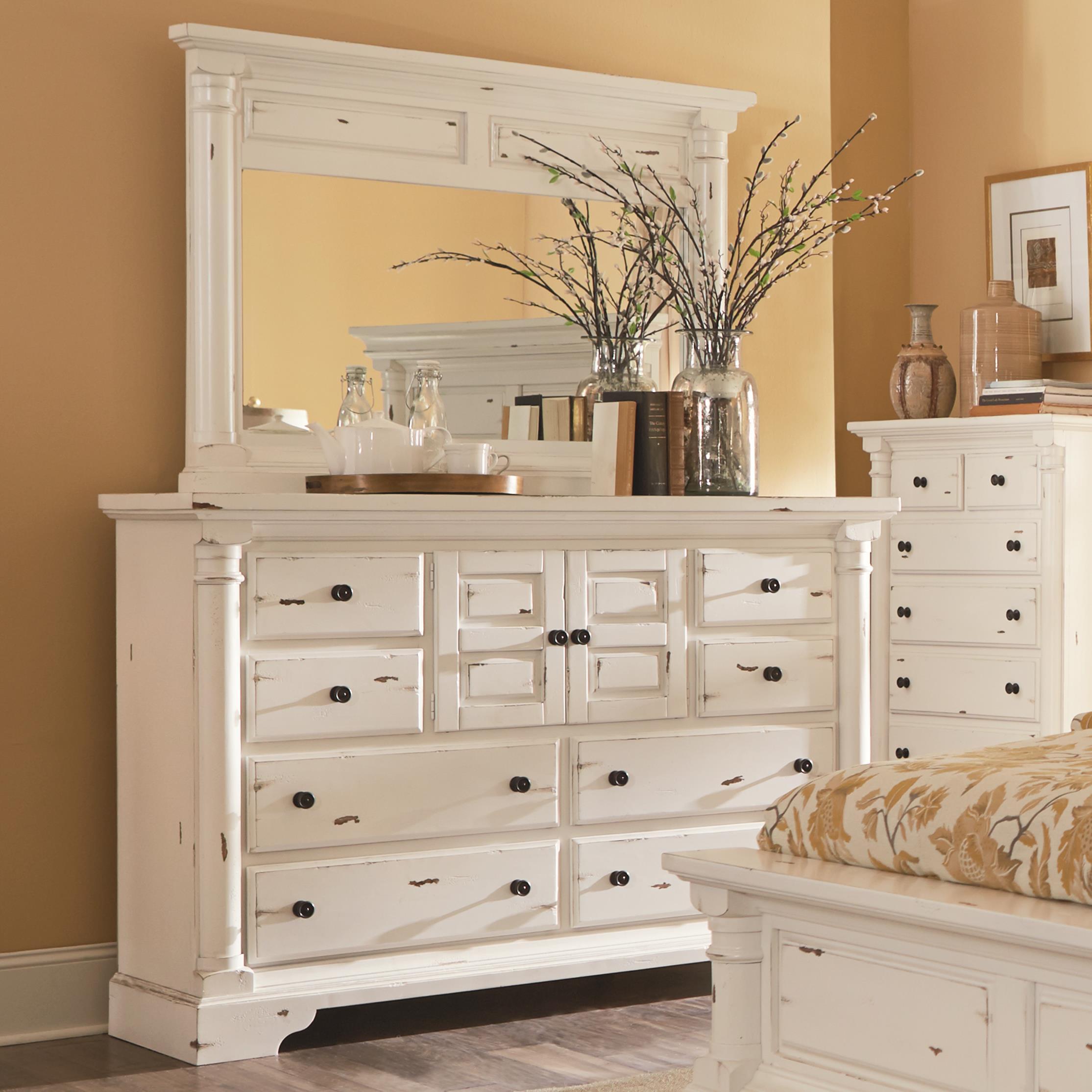 Progressive Furniture Gramercy Park Dresser and Mirror - Item Number: P661-50+24