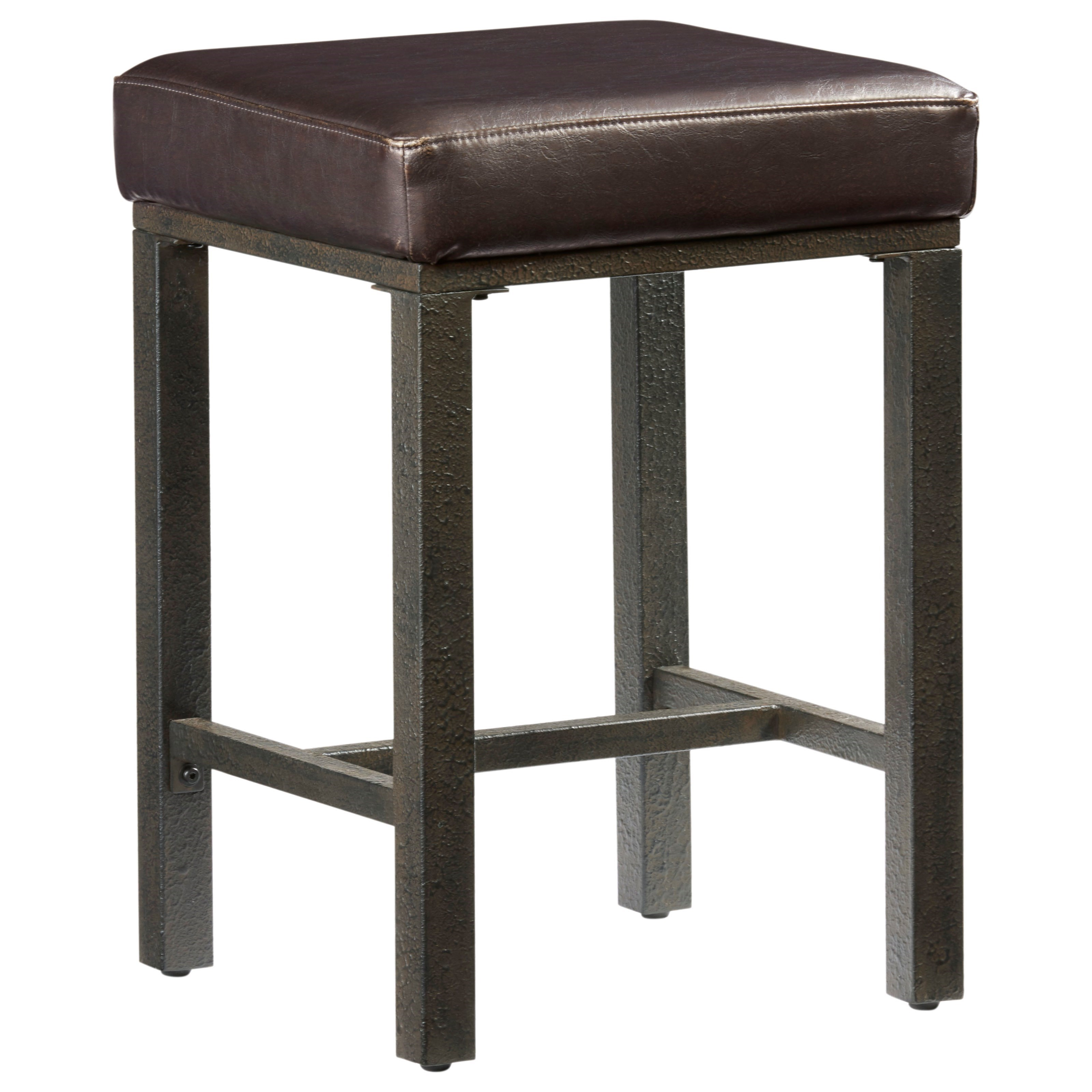 on sale 9b045 982ca Harris Industrial Counter Stool with Upholstered Seat by Progressive  Furniture at Wayside Furniture