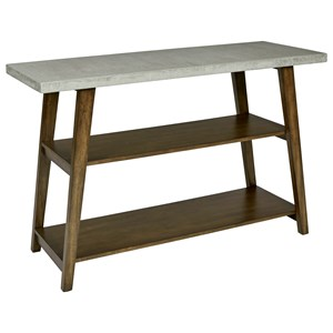 Jackson Contemporary Sofa Table with Concrete Table Top by Progressive Furniture