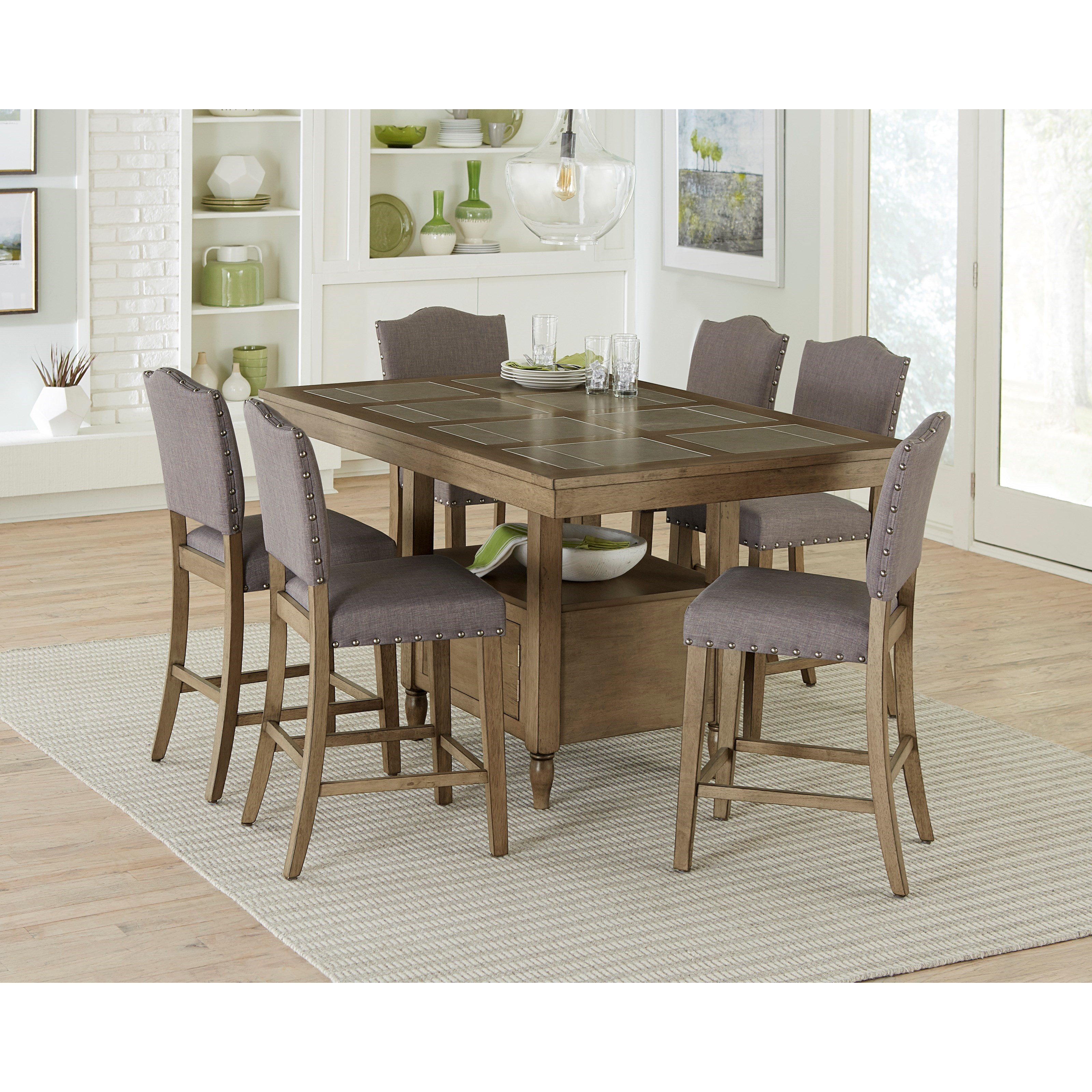 Keystone 9 Piece Counter Height Dining Table Set