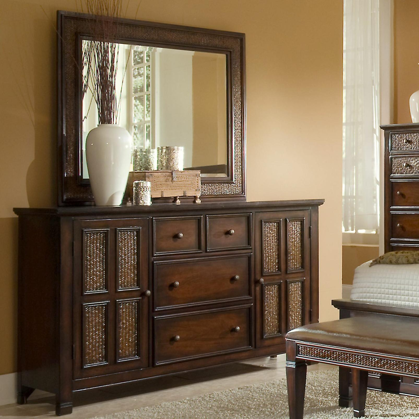 Progressive Furniture Kingston Isle Dresser With Mirror Set - Item Number: P195-50+24