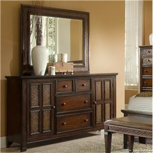 Progressive Furniture Kingston Isle Dresser With Mirror Set