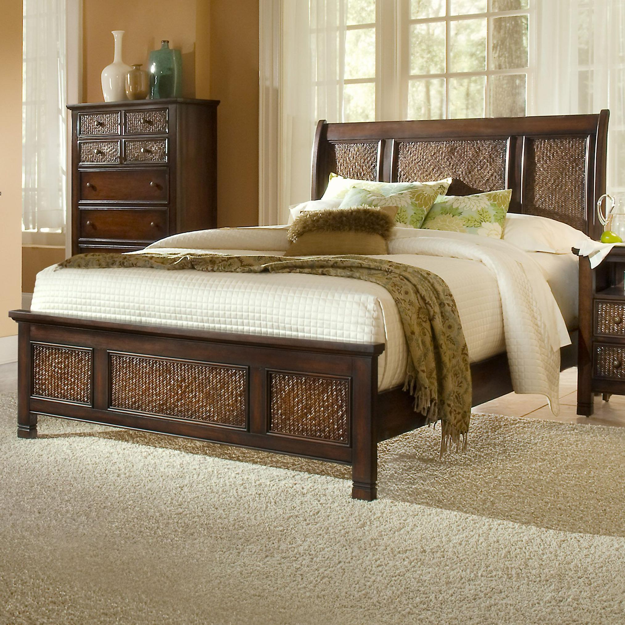 Progressive Furniture Kingston Isle Queen Sleigh/Platform Bed - Item Number: P195-80+1+3