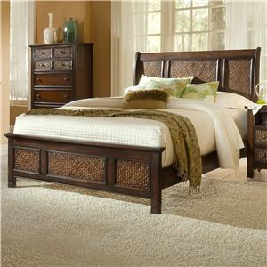 Progressive Furniture Kingston Isle Queen Sleigh/Platform Bed